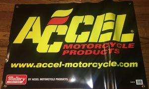 ACCEL Motorcycle Race Banner for Sale in Cleveland, OH