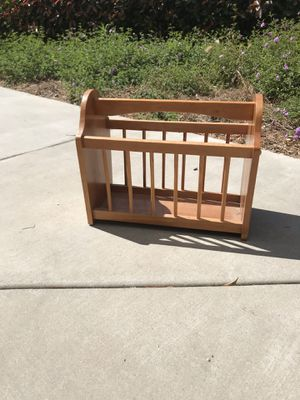 Vintage Wooden Magazine Rack for Sale in Wildomar, CA