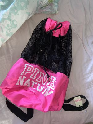 Brand new PINK Victoria secret backpack drawstring bag purse handbag woman's accessories clothing for Sale in Tampa, FL