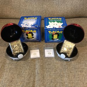 23 Karat Gold Plated Pokémon Trading Card (90's Mewtwo and Togepi) for Sale in Germantown, MD