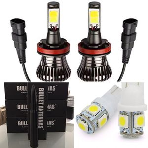 H11 LED Headlight Bulbs + Black Bullet Antenna + 2 License Plate LED Bulbs for Sale in Homestead, FL