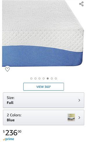 10-Inch Memory Foam Mattress in Blue, Full for Sale in North Las Vegas, NV