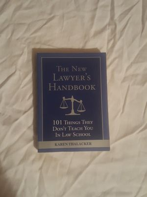 The New Lawyer's Handbook by Karen Thalacker for Sale in Silver Spring, MD
