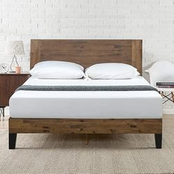 King Size Zinus Tonja Platform Bed / Mattress Foundation / Box Spring Replacement / Brown for Sale in Cleveland,  OH