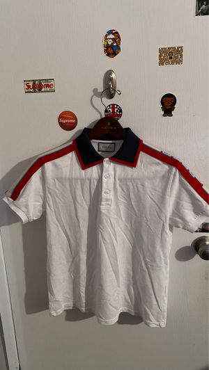 RED & BLUE STRIPED GUCCI POLO (GREAT CONDITION NO STAINS)(SIZE SMALL) for Sale in Marysville, WA