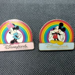 Hard To Find Disneyland Rainbow Pride Mickey And Minnie Mouse Disney Pins for Sale in Santee, CA