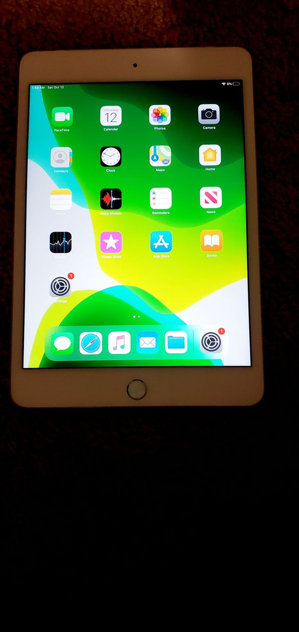 iPad mini 4 128gb iCloud unlocked like new