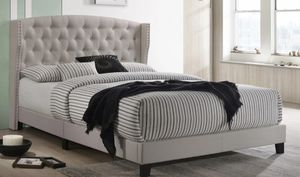 QUEEN BED FRAME WITH BAMBOO MATTRESS INCLUDED for Sale in Chino, CA