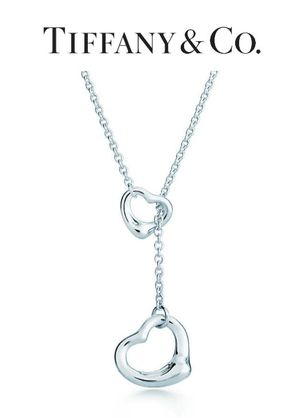 Tiffany Co. Elsa Peretti Open Heart Lariat ~ Sterling Silver Necklace / $450.00 for Sale in Hermosa Beach, CA