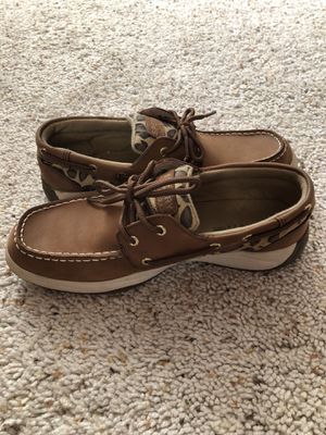 Sperry Top-Sider Cheetah Print Boat Shoes - Size 7 for Sale in West View, PA