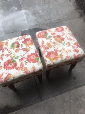 FLOWER PRINTED STOOLS for Sale in Philadelphia, PA
