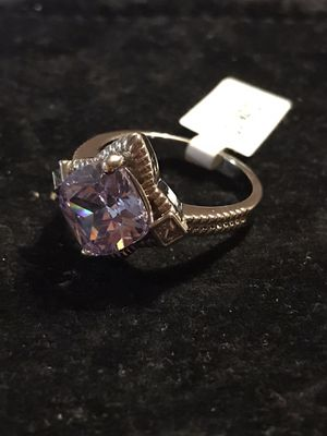 BRAND NEW LADIES RING WITH 10MM CUSHION CUT LAVENDER CZ for Sale in Seaford, DE
