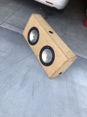Dual 12inch Subwoofer enclosure/Speakers for Sale in Bothell, WA