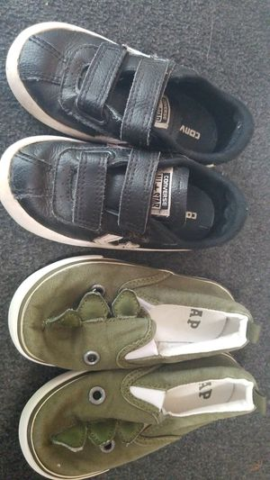 Toddler Boys Shoe Lot Size 8 Converse and Gap for Sale in Auburn, WA