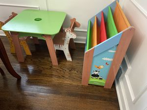Toddler table with chairs and book shelf for Sale in Jenkintown, PA