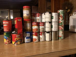 Food cans for free for Sale in Phoenix, AZ