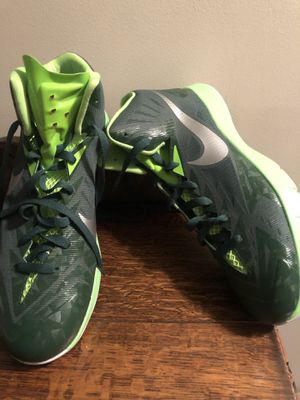Green Nike Lunarlon Hyperquickness Sz 12 for Sale in Garrison, MD