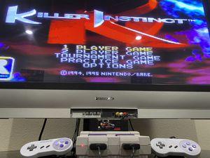 Super Nintendo Entertainment System (NES) with Killer Instinct for Sale in Mount MADONNA, CA