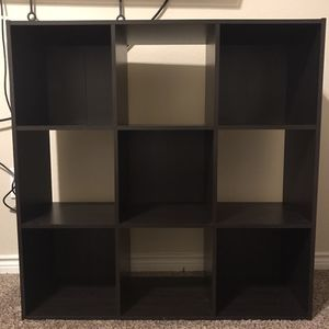 Dark Brown Cube Bookshelf for Sale in Rowlett, TX