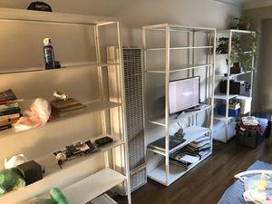 IKEA White Fjalkinge Shelves Shelf Unit for Sale in Los Angeles, CA