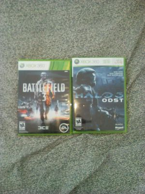 Battlefield 3 and Halo ODST Bundle For XBOX 360 for Sale in Lodi, CA