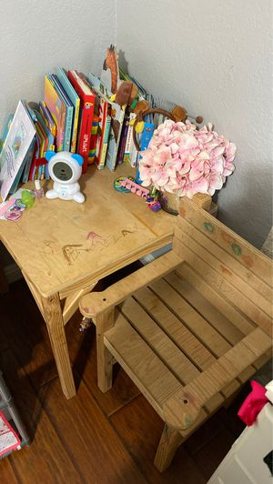 Kids wooden chair & table for Sale in La Habra, CA