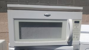 White over the range microwave whirlpool for Sale in Phoenix, AZ