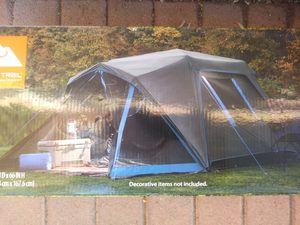 6 Person Instant Dark Room Camping Tent with Screen Area & LED Light $90 each. (Price is Firm) for Sale in Gardena, CA