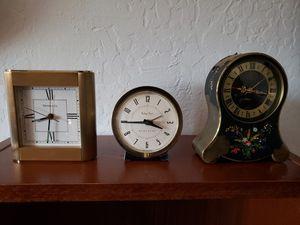 3 Vintage alarm clocks for Sale in Campbell, CA