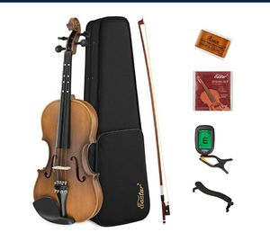 Full Size 4/4 Violin Set EVA-3 with Hard Case, Rosin, Shoulder Rest, Bow, Extra Strings NEW ½ PRICE for Sale in Virginia Beach, VA