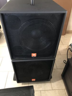 """Jbl sr-x 18"""" inch with RCF for Sale in Phoenix, AZ"""