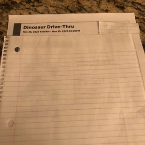 Dinosaur Drive-Thru Nov 25, 2020 for Sale in Chandler, AZ