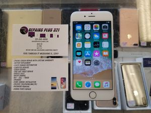 Unlocked Silver iPhone 6 64gb for Sale in Melbourne, FL