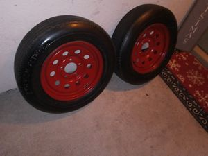 (2) USED 15 inch trailer wheels for Sale in Santee, CA