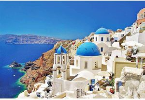 1000 Piece Puzzles Aegean Sea Jigsaw Puzzle for Teen Adult Grown Up Puzzles Stress Relief Game for Sale in San Dimas, CA