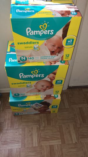 Pampers Size Newborn size 1 and size 6 for Sale in Middle River, MD