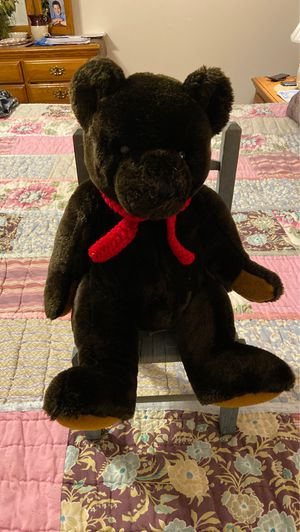 Dark brown teddy bear with red scarf for Sale in Murfreesboro, TN