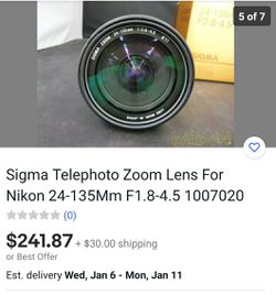 Sigma Lens for Sale in Cleveland,  OH