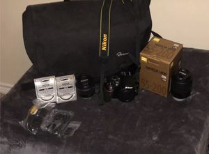 Nikon D3200 with 2 lenses and everything else you would need for Sale in Mesquite, TX