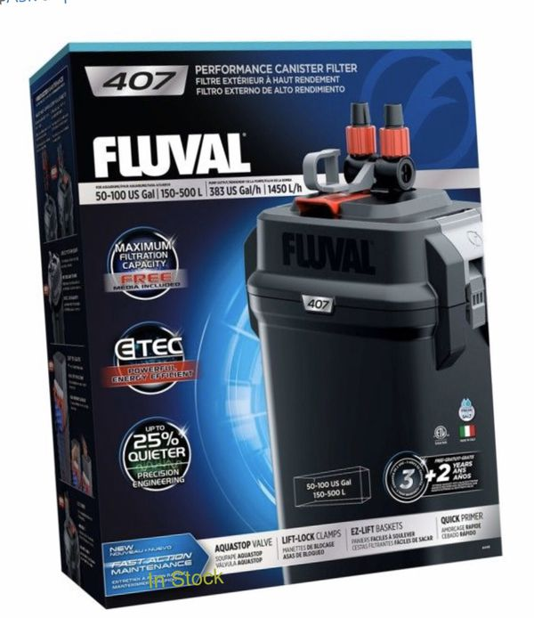 NEW FLUVAL 407 CANISTER FILTERS