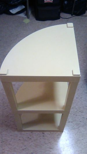 3 Shelf Corner Table / Color Light Yellow for Sale in East Providence, RI