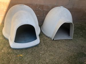 Two XL dog igloos for Sale in Monrovia, CA