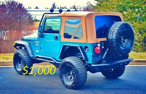 🔥2000 Jeep Wrangler*^*TJ LIFTED SUPER CLEAN $1,000🔥 for Sale in Fresno, CA