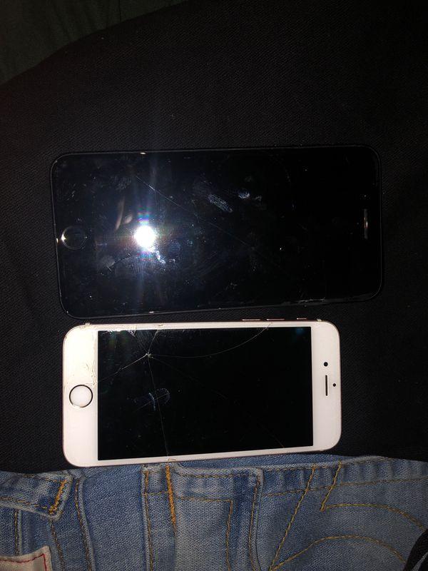 iPhone 7+ (locked) iPhone 6 (locked&cracked)