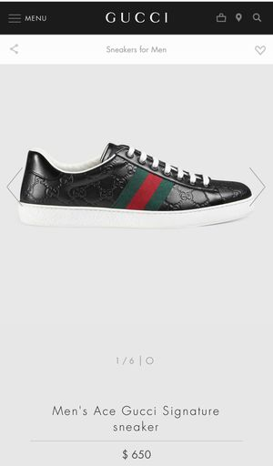 Men's Ace Gucci Signature sneaker for Sale in Portland, OR