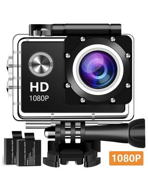 Used, Action Camera Sport Camera 1080P Full HD Waterproof Underwater Camera with 140°Wide-Angle Lens 12MP 2 Rechargeable Batteries and Mounting Accessories for Sale for sale  Plainfield, NJ