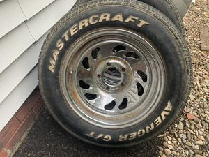 Rims and tires set of 2 off Ford Ranger for Sale in Parma, OH