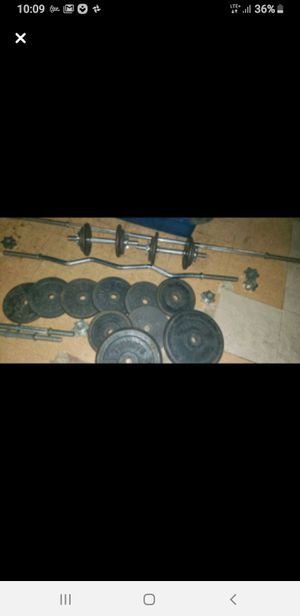 Weight set 165 pounds best offer for Sale in Collingswood, NJ