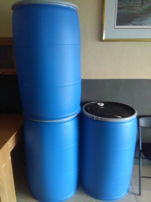 Plastic barrel for storing water or shipping for Sale in Lakeland, FL