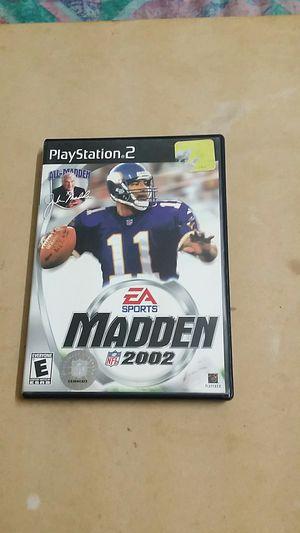Madden NFL 2002, PS2 for Sale in El Cajon, CA